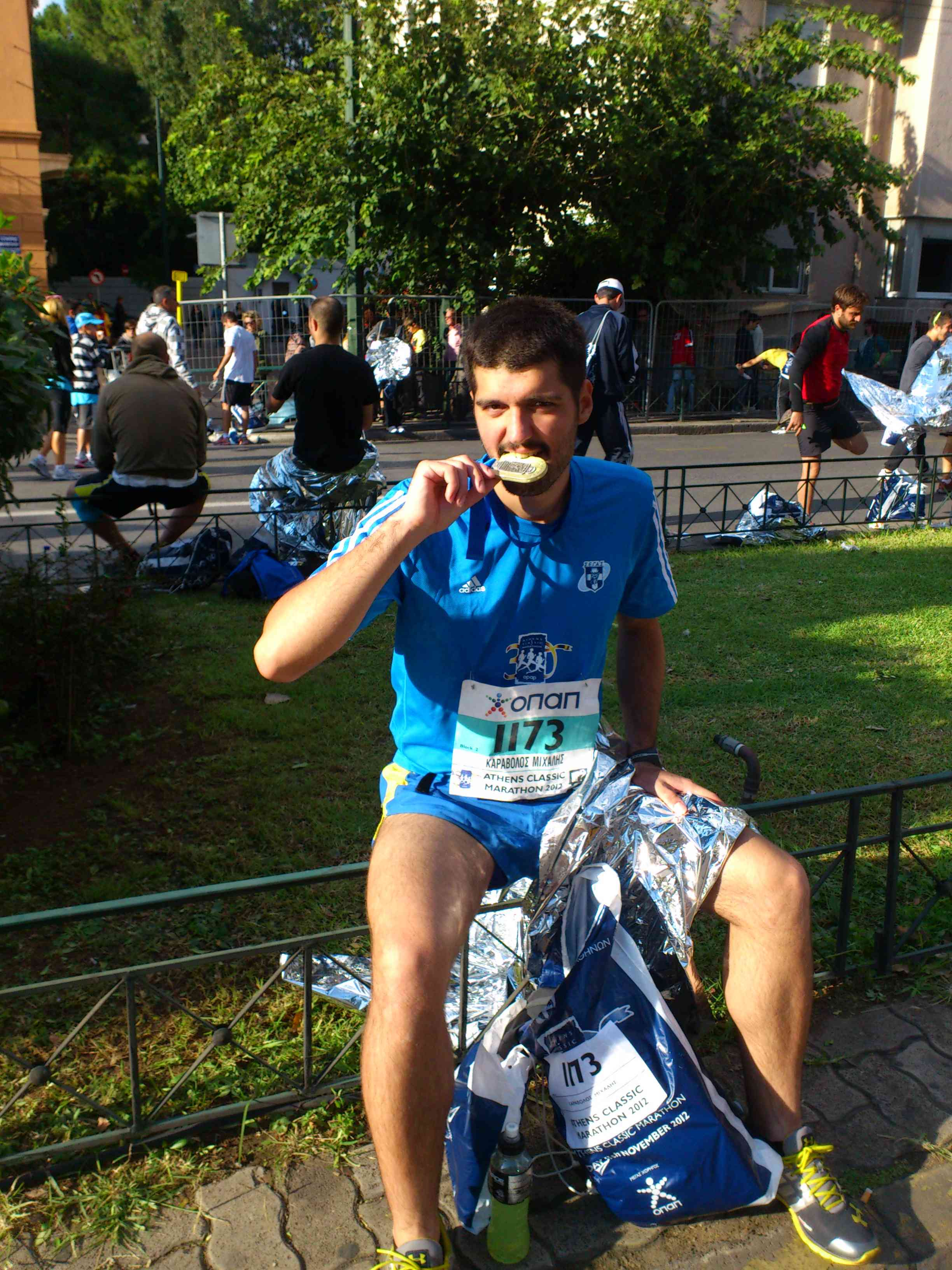 Marathon running finish pic 2012