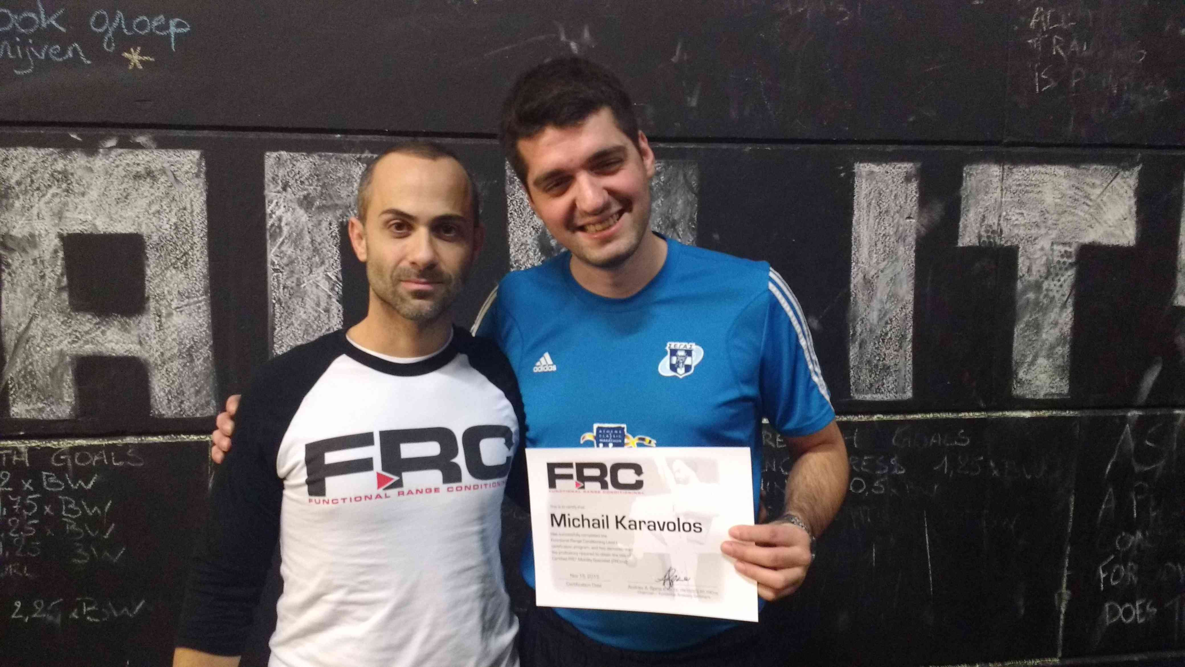 Dr. Andreo Spina at Functional Range Conditioning 2015 in Belgium